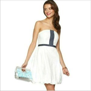 Lilly Pulitzer White Eyelet Bubble Cocktail Dress